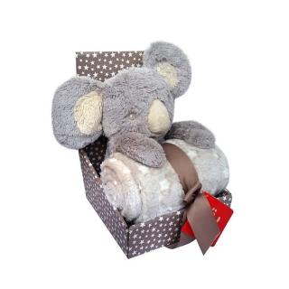 BOBOBABY dětská deka 75x100cm s hračkou Koala 30cm empty 895b1f4089